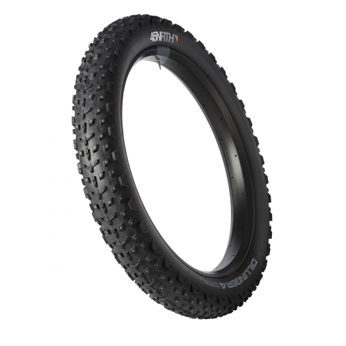 45NRTH Dillinger 4 - 26x4.0 Studded Fatbike Tire - 120tpi Tubeless Folding  (240 Concave Carbide Studs)