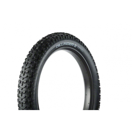 "45NRTH Dillinger 5 Studded Fatbike Tire: 26 x 4.8"", 258 Concave Studs, Folding 120tpi"