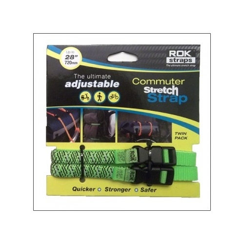 Stretch Strap 12 mm, L 300mmx720mm, neon green reflective