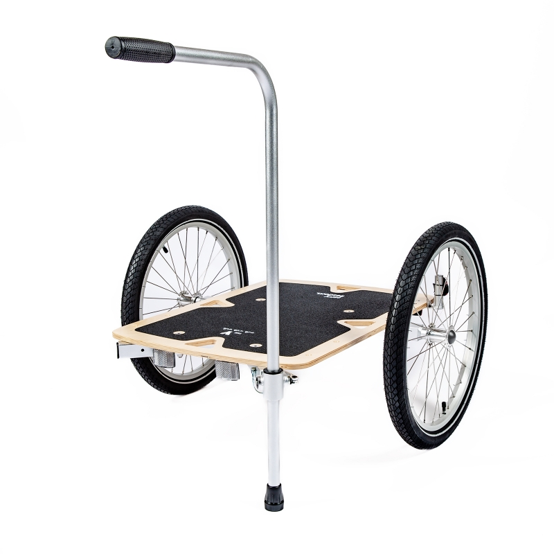 Hand Cart Handle 2.0 for Y trailer with foot. New adjustable version!