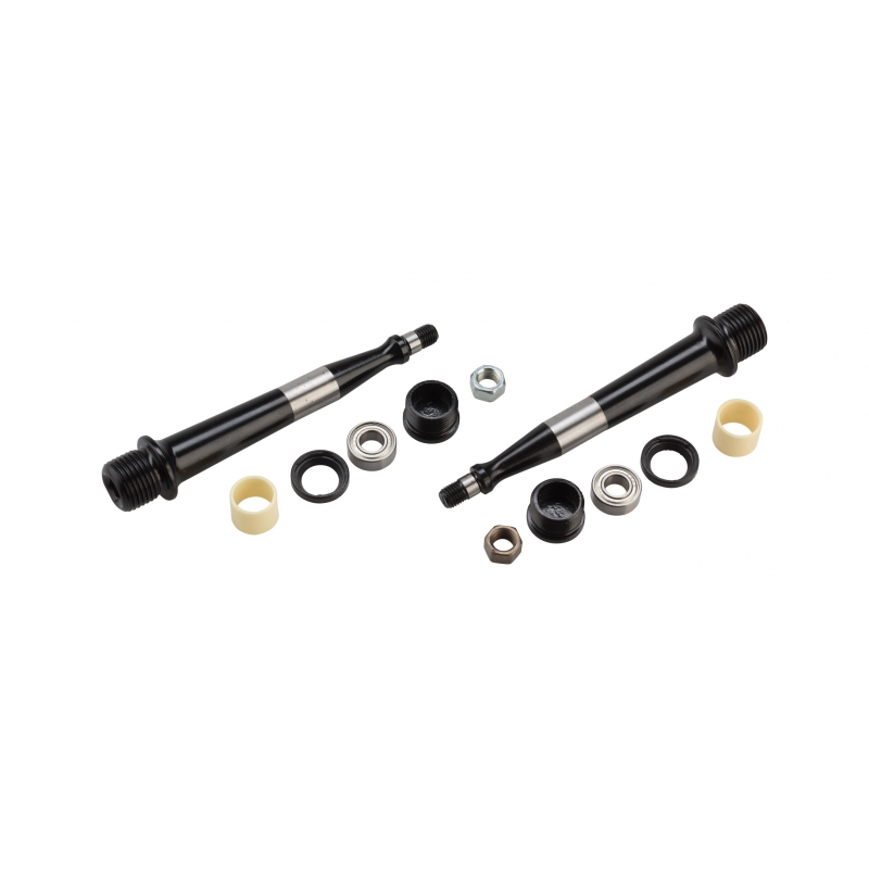 Pedal iSSi +6mm Spindle Rebuild Kit, Black
