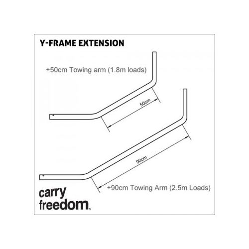 Long Towbar Extension 0,5 m with Lollypop-Elastomer and Safety Pin
