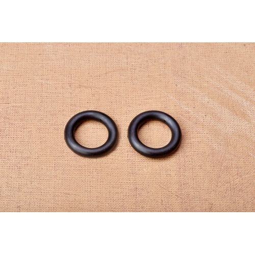 Rubber axle ring for the wheel axle, pair, reduces noise and protects the bearing
