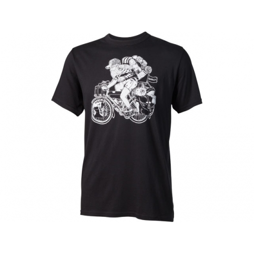 T-Shirt Long Haul Trucker Joe Surly Noir